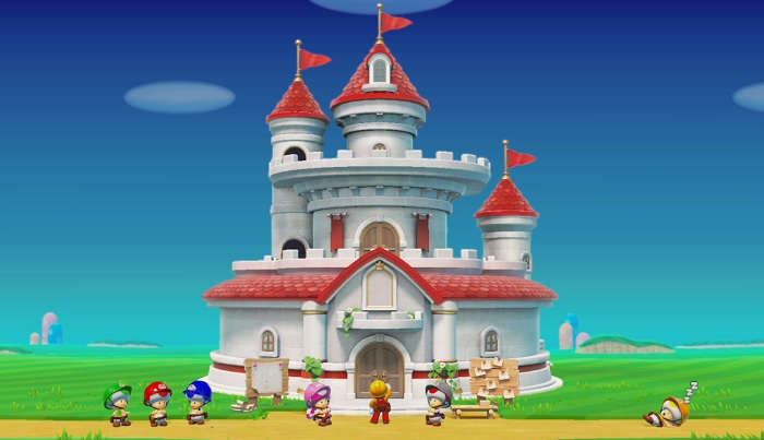もうすぐ完成を迎えたピーチ城だが…。